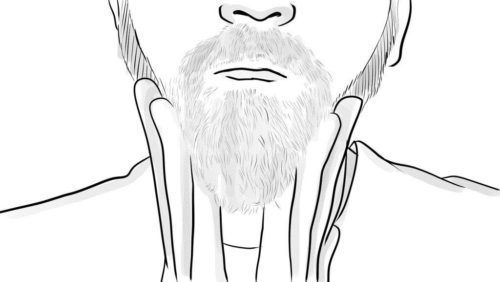 masajear barba con balsamo