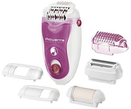 Rowenta Silence Soft EP5660E0 -Depiladora 2 velocidades, sistema antidolor de 24 pinzas, luz frontal Led, cabezal exfoliante, de afeitado, para axilas y para recorte para la zona del bikini