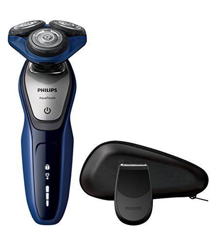 Philips Serie 5000 S5600/12 - Afeitadora Eléctrica para Hombre Rotativa, Perfilador Patillas, Estuche de Viaje, Azul