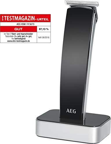 AEG HSM/R 5673 NE - Cortapelos para cabello, barba, nariz, oído, color negro
