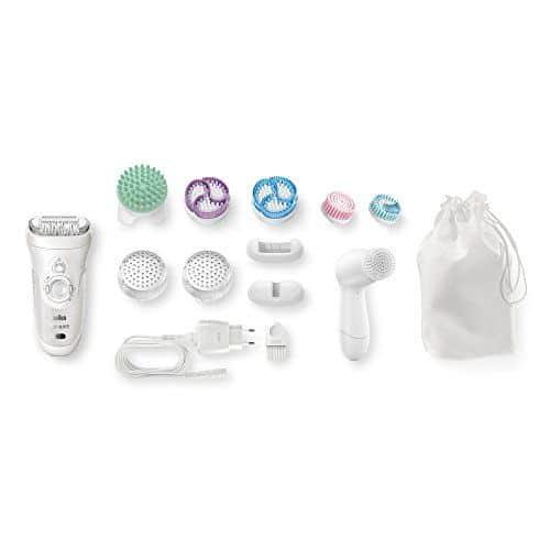 Braun Silk-épil 9 SkinSpa 9-969v - Depiladora para mujer con sistema 4 en 1 de exfoliación, cuidado de la piel y cepillo limpiador facial adicional