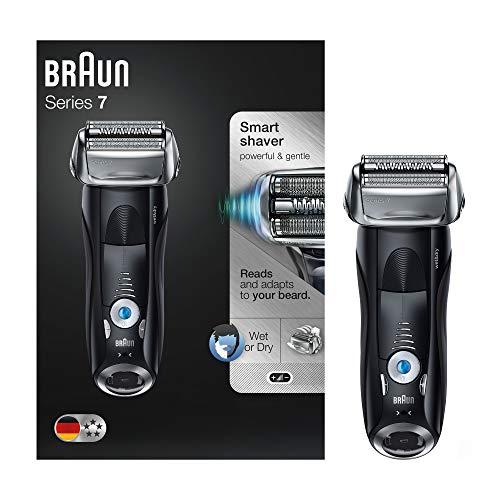 Braun Series 7 7840 s - Afeitadora eléctrica para hombre de lámina, en húmedo y seco, máquina de afeitar barba recargable e inalámbrica, negro