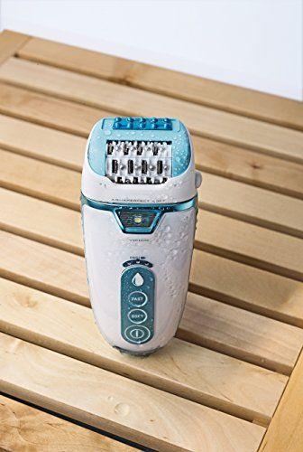 Rowenta Aquaperfect Soft - Depiladora con 2 accesorios, color turquesa