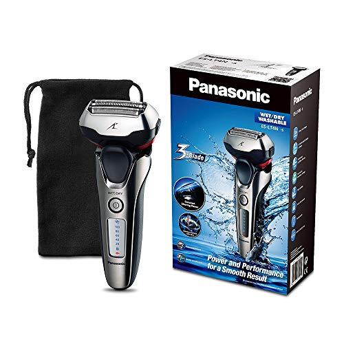 Panasonic ES-LT4N-S803 - Afeitadora eléctrica para hombre, 3 hojas, lineal, color 3D metal