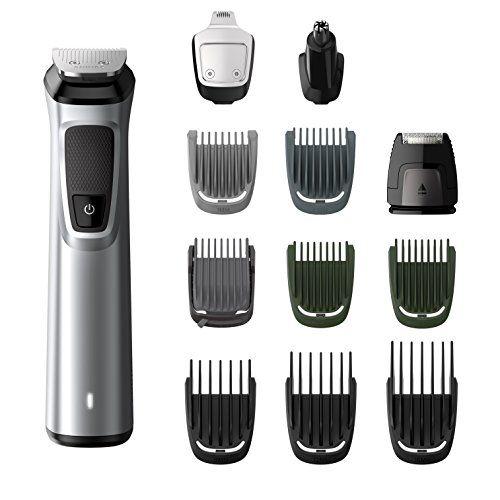 Philips Barbero MG7710/15 - Recortador de barba y precisión 12 en 1 tecnología Dualcut, autonomía de 120 minutos